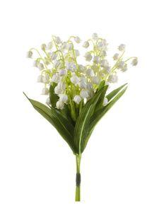 künstlicher Lily of Vally Maiglöckchen Bündel mit3 Stielen weiß grün Emerald