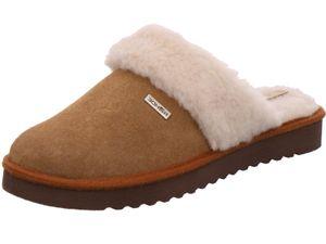 Rohde Damen Pantoffeln Hausschuhe Velourleder Maiori 6770, Größe:39 EU, Farbe:Braun