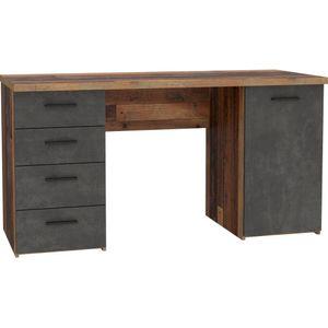 Schreibtisch Arbeitstisch Bürotisch Kinderschreibtisch Home Office MT926 Old Wood Vintage Beton Grau
