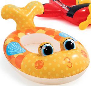 Kinder Schlauchboot Kinderboot Gummiboot Boot 3 Modelle Hai Feuerwehr Rennwagen, Motiv:Fisch