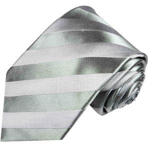 Paul Malone Herren Krawatte Schlips modern gestreift silber grau 811
