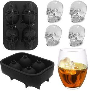 3D Eiswürfelform Totenkopf Silikon Party Eiswürfel Halloween Skull Bones Form