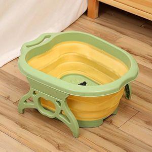 Faltbare Kunststoff Fuß Einweichen Badewanne Eimer Schüssel Fußbad Gelb Wannen 50 x 41 x 21 cm