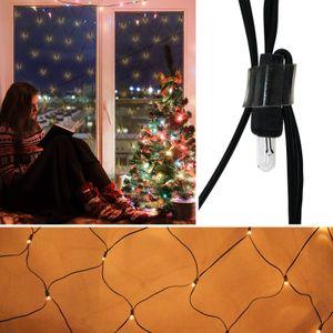 Lichternetz mit 160 Lämpchen Lichterkette Outdoor Außenlichterkette Weihnachtsbeleuchtung Lichterketten Netz Lichtervorhang