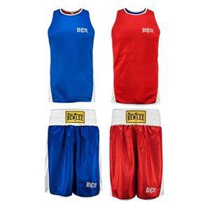 BENLEE Rocky Marciano 2er Set Tanktop und Shorts Herren Rot-Blau, Größe:XXL