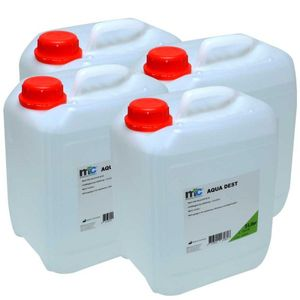 Medicalcorner24 Destilliertes Wasser AQUA DEST, unsteril und mikrofiltriert, 4x 5 Liter