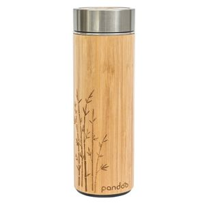 Bambus-Thermobecher mit Teesieb 360 ml