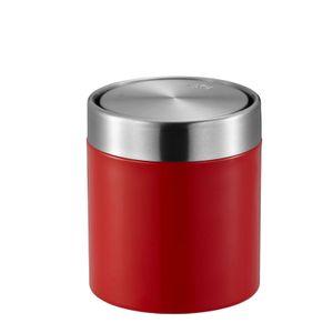 EKO tischabfall Fandy 12 x 13,8 cm Edelstahl poliert rot