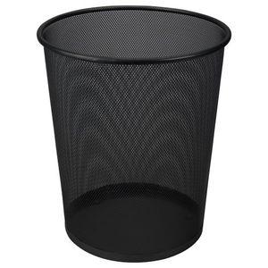 Papierkorb aus Metall 19 Liter Schwarz