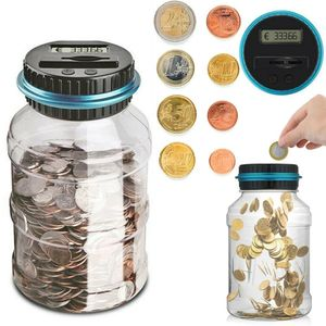 Spardose mit Zählwerk Elektronisch Euro Münzzähler Sparschwein Sparbüchse Geld sparen Box Münze Zählwerk Münze Bank