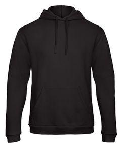 B&C Hooded Uni Sweatshirt Kapuzenpullover, Größe:4XL, Farbe:Schwarz