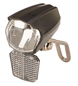 Prophete_LED-Scheinwerfer, 30 Lux, mit Ein-/Ausschalter, mit Standlicht und Sensorautomatik, abnehmbarer Reflektor und Nirosta Halter, für Naben- und Seitendynamo und für E-Bikes mit Stromversorgung aus dem Akku_6062