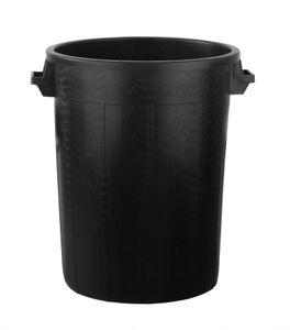Universaltonne 100 Liter ohne Deckel Allzweck Tonne Schwarz mit 2 Tragegriffen