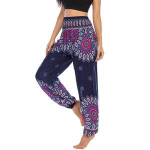 Frauen Männer Hippie Boho PJs Lounge Beach Print Yoga Hose HMJ201229325