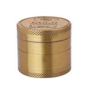 GRINDER GOLD 40mm Metall 4-tlg. mit Sieb Crusher Tabak Gewürz Herb Kräuter Gewürzmühle Tabakmühle Kräutermühle Mühle 10