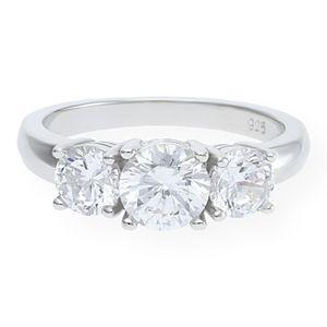 JuwelmaLux Ring in 925er Sterling Silber rhodiniert mit synthetischen Zirkonia JL10-07-0648