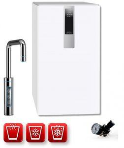 Einbau-Tafelwasseranlage BLACK & WHITE HOT DIAMOND (Option CO2 Eigentumsflasche: ohne CO2 Flasche / Armatur: U-Auslauf / Farbe: weiß)