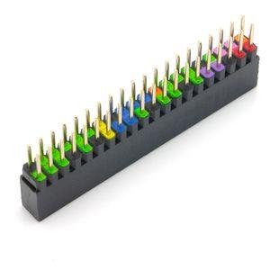 40 Pin GPIO Stacking Header für Raspberry Pi, farbig kodiert, 6,2mm