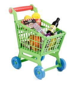 Kinder Spielzeug Einkaufswagen Spielset von EDDY TOYs, Warensortiment 25 Teile, Größe ca. 29 x 17 x 22 cm