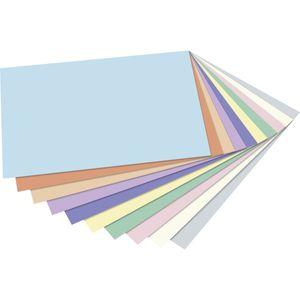 Tonzeichenpapier DIN A4 pastell 100 Blatt in 10 Farben sortiert