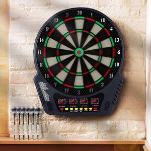 Profi Elektronische Dartscheibe, Darts, Dartboard, Dartautomat - 27 Spiele, 243 Spielvarianten, inkl. 6 Soft Dart , 24 Dartkopf - mit LED Anzeige