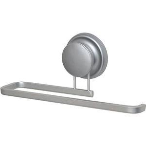 Design Aluminium Handtuchhalter Badezimmer mit Saugnäpfen - Handtuchhalter - Saugnapf ohne Bohren - Wandhalterung - Handtuchhalter Küche - Badezimmer - Aluminium - 10x24x7,5 cm