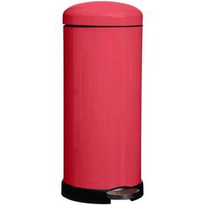 Müllkorb mit Pedal 30L RETRO, Edelstahl, gelb - 5five Simple Smart, Farbe:Rot