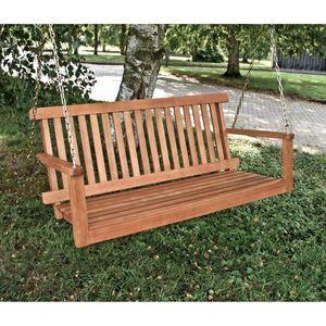 Hängebank Hängeschaukel Schaukelbank Garten Schaukel Bank Holz Eukalyptus Holz