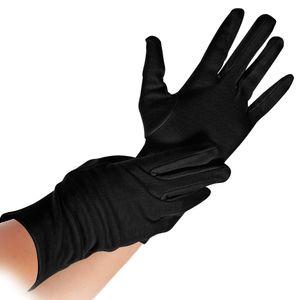 12 Paar Baumwollhandschuhe Schwarz Größe M waschbar Handschuhe Stoffhandschuhe Baumwoll-Handschuhe