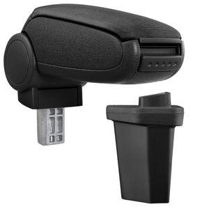 [pro.tec] Mittelarmlehne Passgenau für Hyundai I20 / 2. Generation (GB, seit 2014) - Armauflage mit Staufach - gepolstert - Textil - schwarz