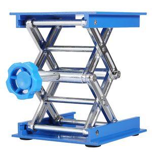 100 x 100mm Labor Laborständer Hebebühne Lifter Edelstahl Hubtisch Blau