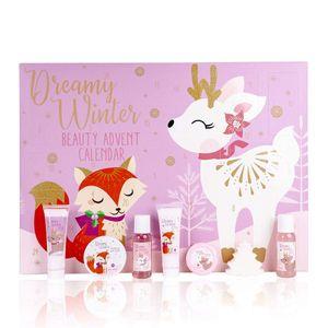 Accentra Beauty Adventskalender für Kinder und Frauen DREAMY WINTER mit Fuchs & Reh