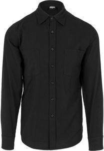 Urban Classics Checked Flanell Shirt TB297 Black Black, Größe:XL