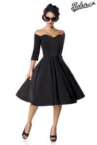 Belsira Premium Vintage Swing-Kleid, Farbe: Schwarz, Größe: L