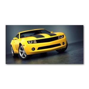 Tulup® Leinwandbild - 120x60 cm - Wandkunst - Drucke auf Leinwand - Leinwanddruck - Fahrzeuge - Gelb - Sportwagen