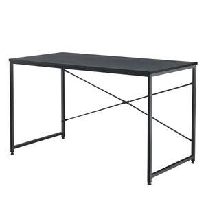 [en.casa] Schreibtisch 120x60x72cm Schwarz Eiche-Optik Bürotisch Computertisch Arbeitstisch PC Tisch
