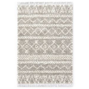 Hochflorteppich Teppich Berberteppich Hochflor PP Sandfarben und Beige 160 × 230 cm