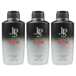 John Player Special Sport Hand & Body Lotion, 3 x 500 ml