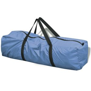 Campingzelt 6-Personen-Zelt Blau und Gelb
