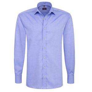 Eterna Modern Fit Hemd Langarm Fein Oxford Uni Mittelblau 8100/12/X177