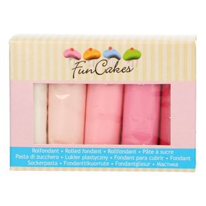 FunCakes Fondant Multipack Pink Colour Palette 5 x 100g
