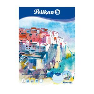 Pelikan Aquarell-Malblock / 20 Blatt / DIN A4 / 150g/m² / Farbe: weiß