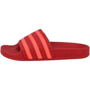 adidas Adilette Damen Slipper Schuhe Rot, Größe:39
