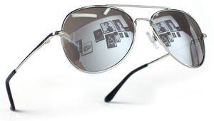 Pilotenbrille Silber Silber