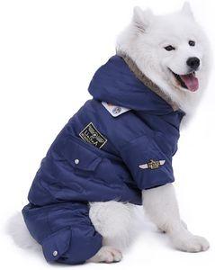 Hundemantel Hundejacke Hundebekleidung Wintermantel Hundepullover Weste Blau 5XL