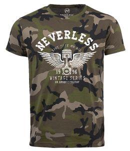 Neverless® Cooles Herren T-Shirt Car Tuning DesignCamouflage Camo-Shirt Tarnmuster camo XXL