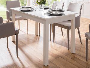 """Esszimmertisch Auszugtisch Holztisch Esstisch Küchentisch Tisch """"Crawley II"""" Weiß"""