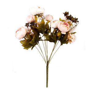 Shabby Chic-Kunstseide Künstliche Pfingstrose Blume Kunstblumen Hochzeit