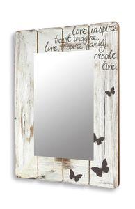 Spiegel Wandspiegel Flurspiegel aus Holz vintage shabby chic  50x70xcm