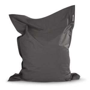 Green Bean © SQUARE XL Riesensitzsack 120x160 cm - Indoor & Outdoor Sitzsack - Gaming Bean Bag Lounge Chair - Kinder & Erwachsene - Anthrazit